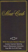 1979 CHEVROLET MONTE CARLO OWNER'S MANUAL