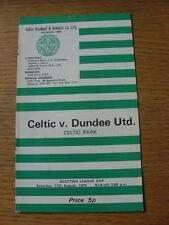17/08/1974 Celtic v Dundee United [Scottish League Cup] (Pin Hole, Marked).