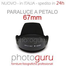 Paraluce a petalo 67mm universale per Canon Nikon Sigma Sony Tamron Pentax 67 mm