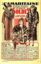 A LA SAMARITAINE PARIS CATALOGUE SOLDES HIVER MODE FEMME ENFANT ET HOMME DE 1934