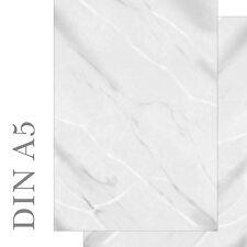 Motivpapier Briefpapier DIN A5 Marmor marmoriert grau weiß beidseitig 50 Blatt