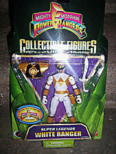 """MIGHTY MORPHIN POWER RANGERS_Super Legends WHITE RANGER 5 """" fig._Limited Edition"""