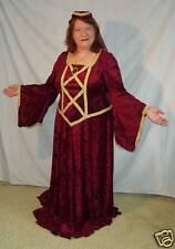 Renaissance Lady Burgundy Velvet Gown & Hat - XXL Tall!