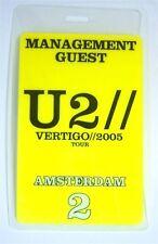 U2 - Vertigo 2005 Amsterdam Yellow Backstage Pass - New