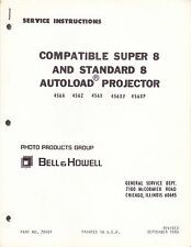 BELL & HOWELL SERVICE MANUAL & PARTS LIST: 456A SUPER 8 & STANDARD 8 CAMERAS