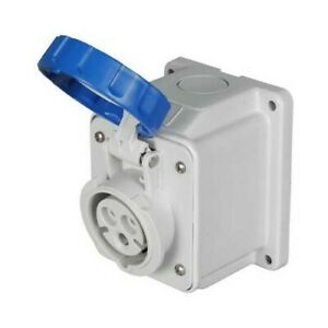 Gewiss GW62426 16A 220v IP67 10° Angled Surface Mounting Socket Outlet 3P -2P+E