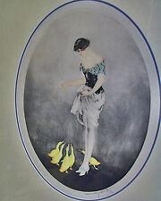 1927 Original Signed Louis Icart  'LE GOÛTER' (THE SNACK) Custom Archively Frame