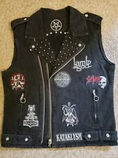 Black Metal Custom Made Custom Designed Battle Vest Denim Jacket Studs & Spikes