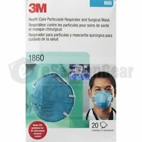 3M 1860 Standard Size N95 Mask 120/PK, NEW, Particulate Respirator Face