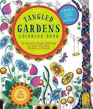 Tangled Color and Draw: Tangled Gardens Coloring Book : 52 Intricate Tangle...