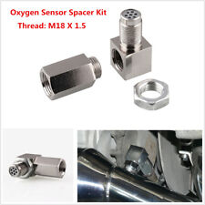1Set ​90° Sensor Spacer Engine Light CEL Check Bung Mini Catalytic Converter Kit