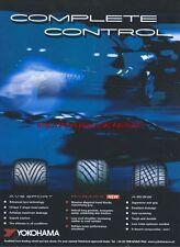 "Yokohama AVS Sport ""Complete Control"" Tyre 2004 Magazine Advert #142"