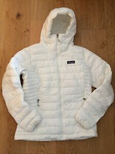 Patagonia Women's Down Sweater Hoody Jacket, Birch White, Size M