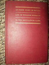 1929 Inside story of Success William Burnette by Neil McCullough Clark RARE 1st?
