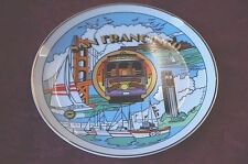 "1985 C. MICO ""SAN FRANCISCO"" DECORATIVE WALL PLAQUE: MADE IN JAPAN"
