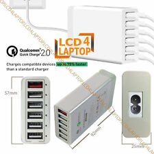 6 Ports Multi Fast USB Charger QC2.0 Smart Charging Station For Smart Devices