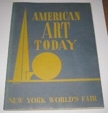 1939 BOOK - AMERICAN ART TODAY - NEW YORK WORLD'S FAIR - NATIONAL ART SOCIETY