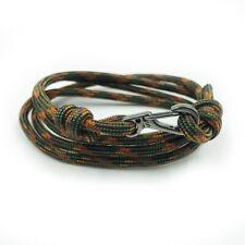 Bracelet   Climbing bracelet Maple Camo Adjustable Carabiner Rope