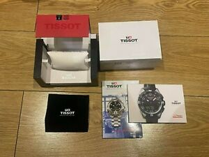 Genuine Original Tissot Swiss Watch Box Complete with Booklets, Cloth and Sleeve
