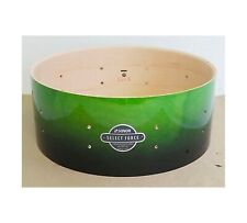 """NEW Sonor Select Force 14 x 5 1/2"""" Maple Snare Drum, Green To Black Fade Lacquer"""