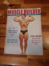 MUSCLE BUILDER bodybuilding magazine YVON BRUNET 7-58