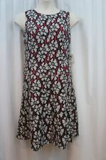 Anne Klein Dress Sz 10 Black white Pink Floral Sleeveless Cocktail Dinner Party