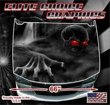 Skeleton Skull Crawl Reaper Vinyl Hood Wrap Bonnet Decal Sticker Graphic
