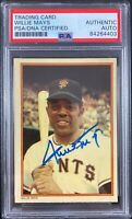 Willie Mays auto signed card Topps #3 1985 San Francisco Giants PSA Encapsulated