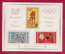 R* CYPRUS BLOCK 3 V. MNH* 1964 OLYMPIC GAMES TOKYO Mi nr. 2 #74813