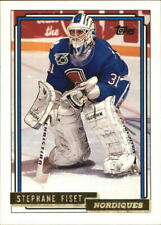 1992-93 Topps Gold Nordiques Hockey Card #285G Stephane Fiset