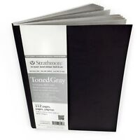 Strathmore 400 Series Toned Gray Sketchbook – Soft Cover –112 Pages –19.7 x 24.8