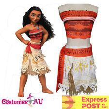 Girls Moana Polynesia Princess Costume Child Kids Book Week Hawaiian Fancy Dress