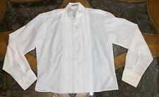 Vintage Tuxedo Shirt White CHAPLIN Pleated Wing Collar Bib Button Small 32-33