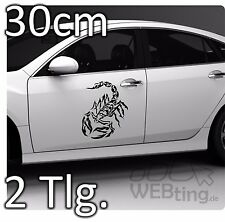 2x 30cm Skorpion Scorpion Aukleber Sticker Autoaufkleber Tattoo Auto Wandtattoo
