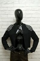 Giubbino MONDI Donna Taglia Size 38 Giubbotto Giacca Jacket Woman Lino Nero