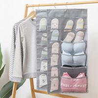 Hanging Storage Bag Wall Mounted Wardrobe Underwear Sock Organizer Bag Pocket
