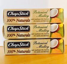 (3) Chapstick 100% Naturals Botanical Medley Lip Balm Sealed