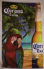 Corona Beach Vertical Parrot Beer Flag 5' X 3' Indoor Outdoor Beverage Banner