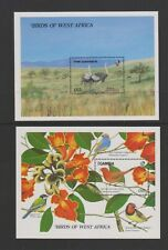 Gambia - 1989, West African Birds, Ostrich & Finch sheets x 2 - m/m - SG MS876