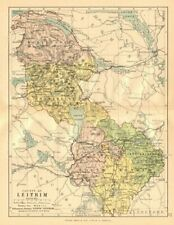 COUNTY LEITRIM. Antique county map. Connaught. Ireland. BARTHOLOMEW c1902