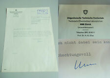 CHEMIKER Hans-Georg Elias (*1928): Brief ZÜRICH 1967 an DDR-Kollegen RUSCHER