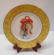 Limoges Plate St. Martin Paris 1892 Woman Big Bonnet and Bow