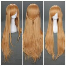 New Fashion 28'' Sword Art Online Asuna Yuuki Anime Cosplay Wigs /Wig + Free Cap