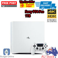 White Sony Playstation PS4 Pro 1TB Console Australian Stock Delivered 4K Gaming