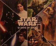 STAR WARS Disney 12 Days Of Socks Kids - Size Large Shoe Size 3-10 *Christmas*