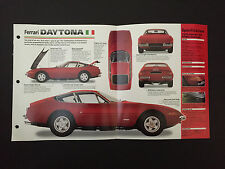 1970 FERRARI 365 GTB/4 DAYTONA IMP Hot Cars Spec Sheet Folder Brochure RARE