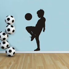 1pc Creative Boy Playing Soccer Wall Stickers Wall Art Decals Nursery Room Decor