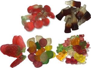 50/50 Sugar Free Jelly Diabetic Fruit Bear Cola Bottles Strawberries Candy Sweet