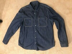 EUC John Varvatos mens denim shirt XL