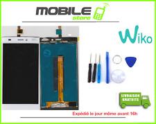 ECRAN LCD + VITRE TACTILE ORIGINAL POUR WIKO RIDGE FAB 4G BLANC + OUTILS